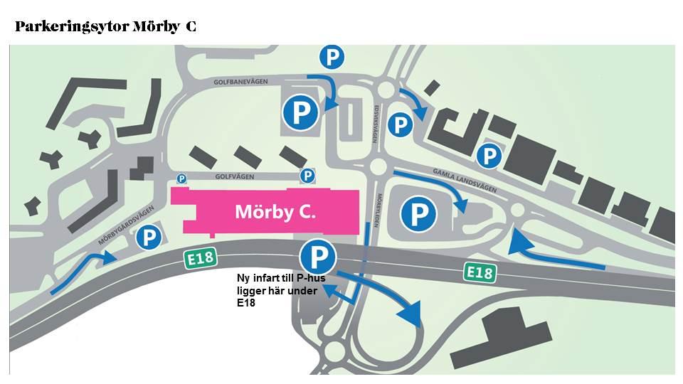 parkeringsytor mörby c