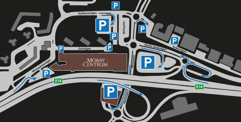 mörby centrum parkering pris